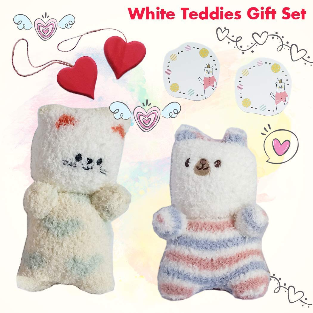 Amazon Com Girls Christmas Ideas Bears Gift Handmade With Love White Teddies Series Handmade