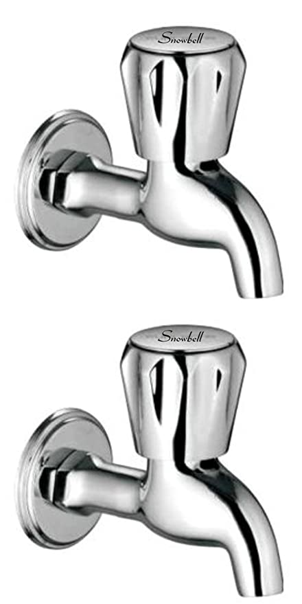 Snowbell Bib Cock Continental Brass Chrome Plated - Set of 2