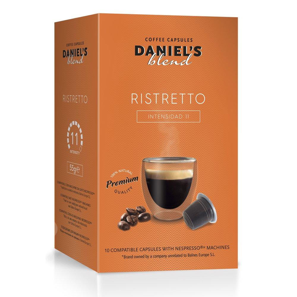 DANIELS BLEND - 50 Cápsulas de Café Compatibles con Máquinas Nespresso - RISTRETTO