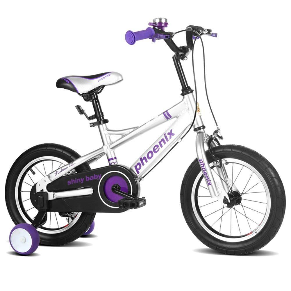 ファッション子供用自転車 TL-122子供の自転車3-13歳の男の子の女の子スペースアルミキッズバイク  白 B07R7P86JS