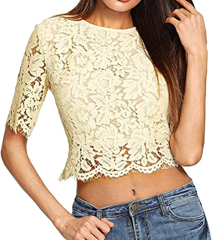 wyxhkj Camisetas Mujer, Blusa Manga Corta Moda Mujer Casual ...