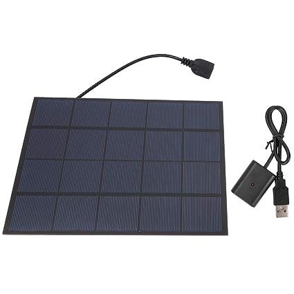 Alomejor Banco Solar de silicio monocristalino 5W 5V Banco ...
