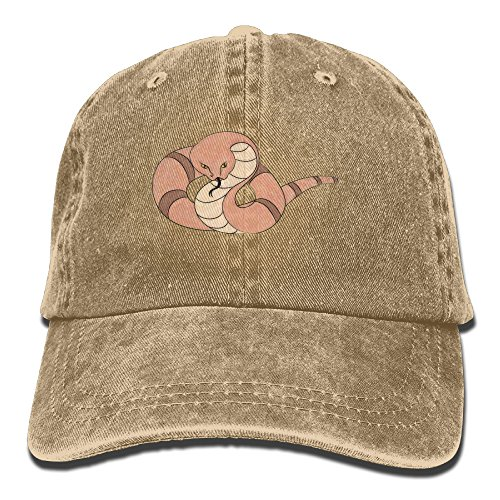 Suaop Snake Day Adult Vintage Washed Distressed Cotton Hat Leisure Baseball Cap Polo Style Natural