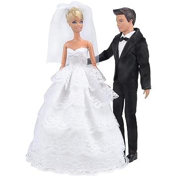 Barbie kompatible Puppenkleidung Kleider Kleid Geschenk Klamotten Kleidung Prinz Kleidung & Accessoires