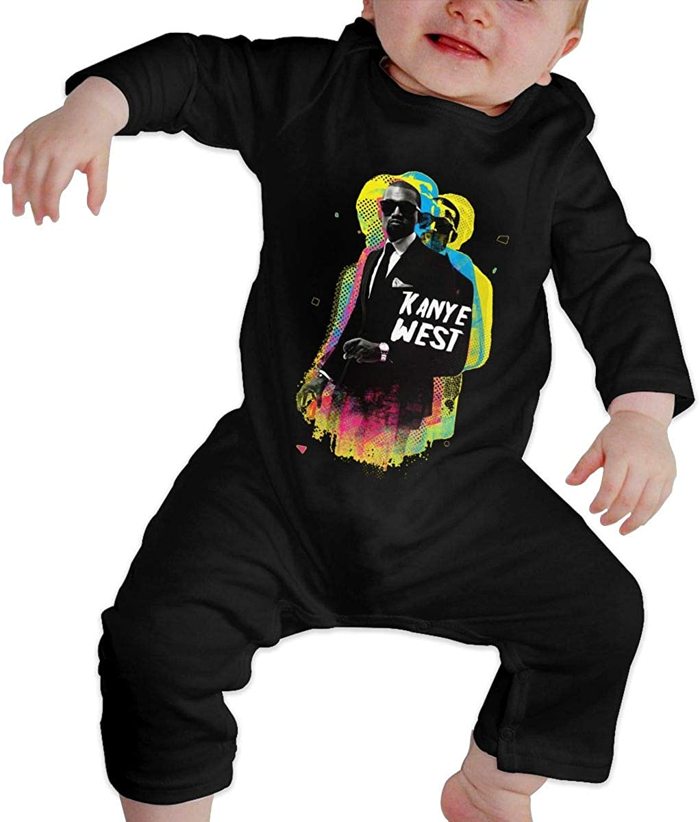 Qq1-asd-store Kanye West Boys//Girls Baby Cotton Long Sleeve Romper Warm Bodysuit