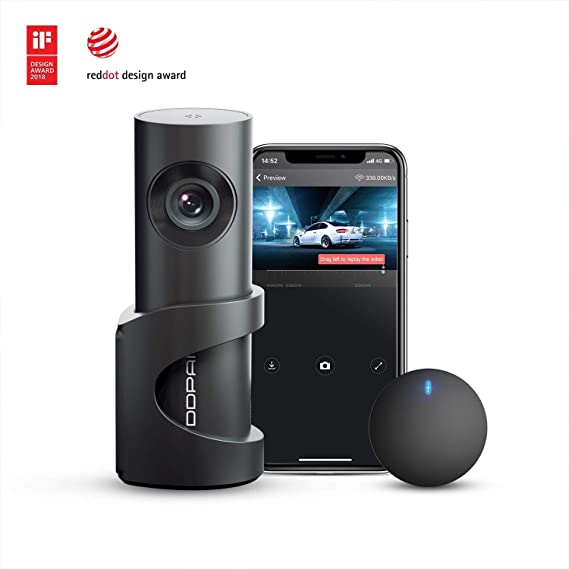 64GB F1.8 DDPai Mini2P Wifi Car Dash Cam /& Free Parking Monitor Hard Wire Kit