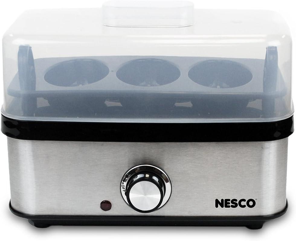 Nesco American Harvest EC-10 home egg cooker, Stainless Steel/Black