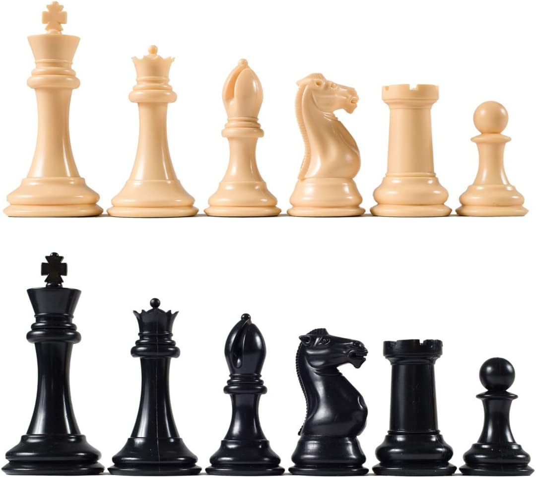 Full Set 34 Purple /& Red 4 Queens Staunton Triple Weighted Chess Pieces