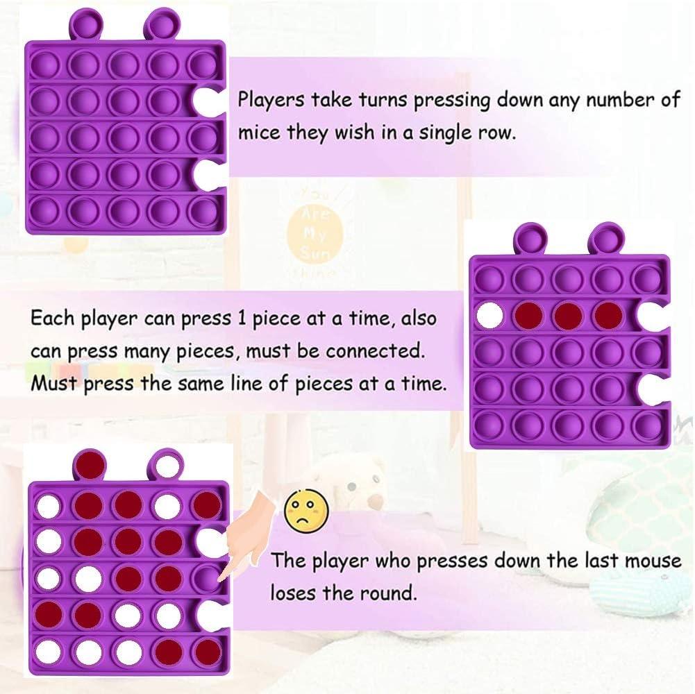 Bubble Fidget Sensory Toys 4Pcs Set Silicone Stress Relief Toys Great Fidget Sensory Toys NUVAVO Push Pop Fidget Puzzle Toys