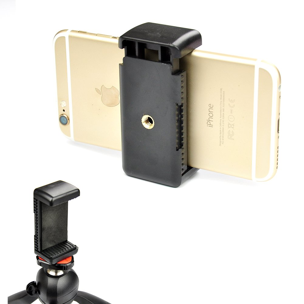 """Accmor Universal Tripod Mount Adapter for Smart Phones 2.3 - 3.3"""" Wide, - Holder Clip Attachment Clamp"""