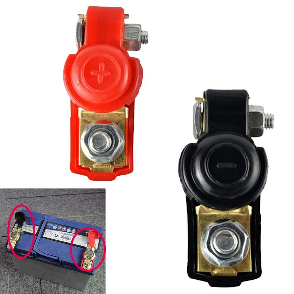 1 coppia auto batteria terminale connettore auto Release batteria terminali morsetti di rame Cap okdeals