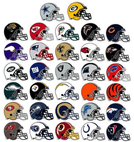 NFL Helmet Stickers - 300 COUNT ()