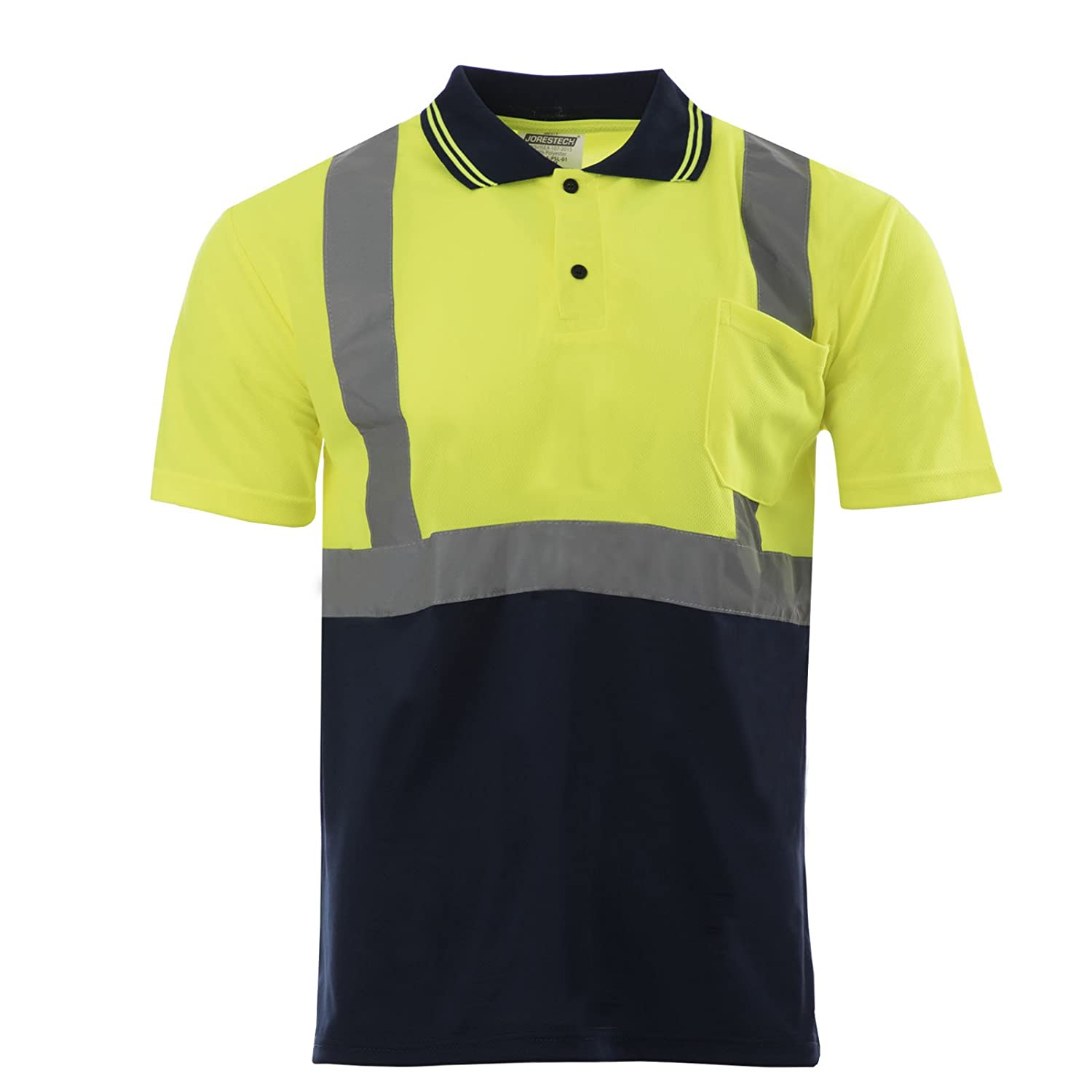 Amazon Jorestech Safety Short Sleeve Polo Shirt Limedark Blue