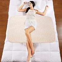 (X-Large, brown-stripe) - Organic Cotton Waterproof Newborn Infant Baby Bassinet Bedding Mattress Pads Bed Wet Nappy…