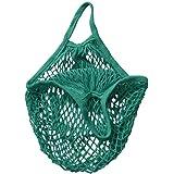 Cotton Net Shopping Tote Ecology Market String Bag Organizer, Two Years,Mesh Reusable Fruit Storage Handbag Totes New (Green)