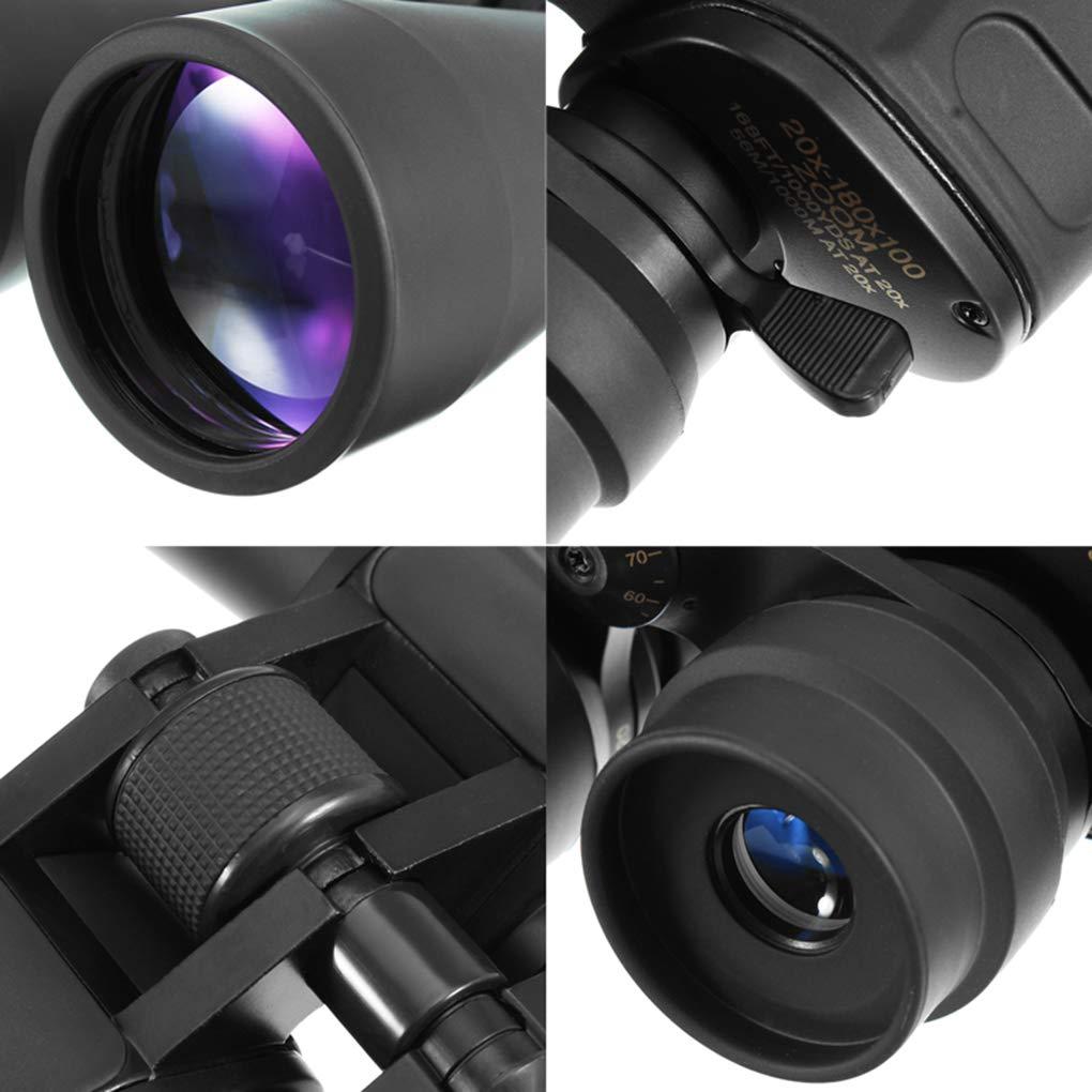 Ben-gi 20-180x100 Niveau de Zoom Lumi/ère Vision Nocturne Chasse Jumelles Observation Camping Randonn/ée T/élescopes
