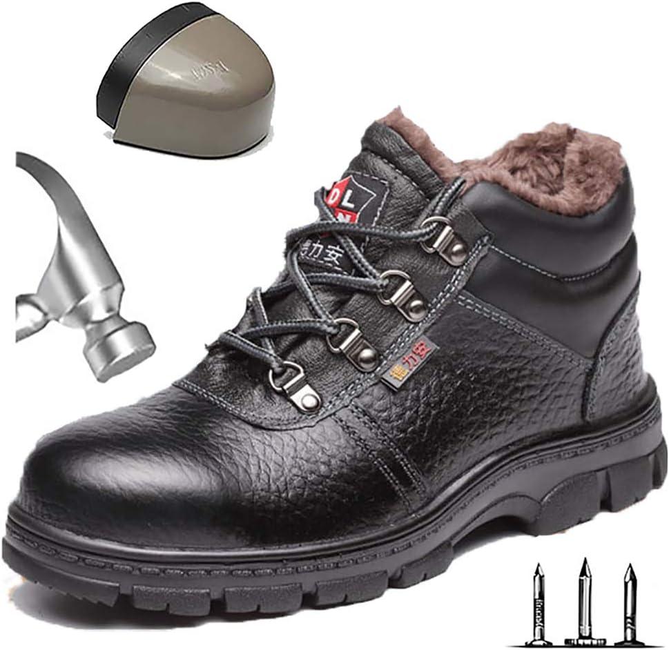 HOAPL Botas de Seguridad de Trabajo para Hombre, Gorras de Punta de Acero, Botas de Trabajo Ligeras y Transpirables Prueba de pinchazos Zapatos de protección Zapatos de construcción,44: Amazon.es: Hogar