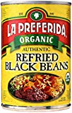 La Preferida Bean Refried Black Organic, 15 oz