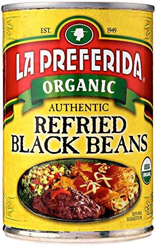 La Preferida Bean Refried Black Organic, 15 (La Preferida Refried Beans)