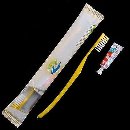 Marca nueva desechable hotel cepillo de dientes y pasta de dientes conjuntos conjunto de cepillo de