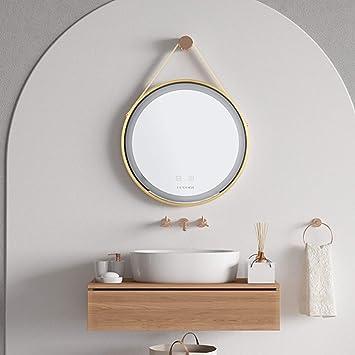 Luvodi Badspiegel Badezimmerspiegel Wandspiegel Dimmbar Led