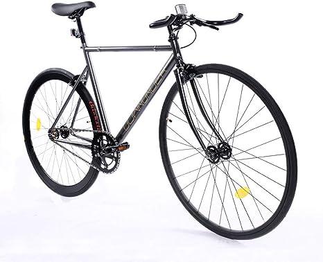 ZOYO Fixie Bike 700C Bicicleta de marcha fija ligera de una sola ...