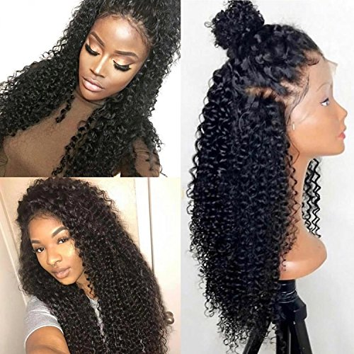 Full Lace Wigs For Black Women Brazilian Pre Plucked Full Lace Glueless Human Hair Wigs for Black Women With Baby Hair (18 inch, 150% Density Full Lace Wig)