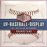 6 Ball Qube Grandstand Baseball Displays with UV Protection