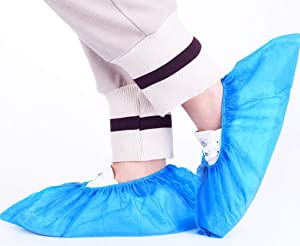 Lawei 200 Pack (100 Pairs) Shoe Covers Disposable - Disposable Shoe & Boot Covers for Home Indoor and Outdoor Activities, Protect Your Home, Floors and Shoes
