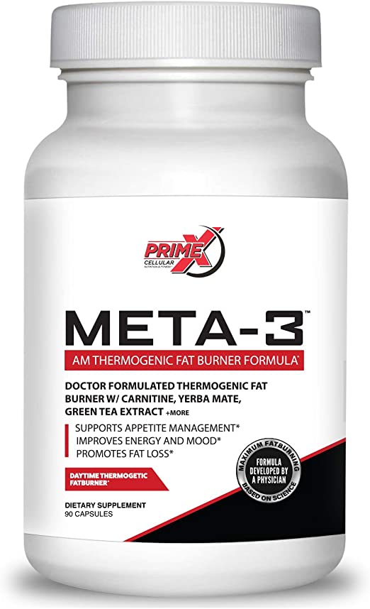 Amazon Com Dr Eric Prime X Meta 3 Am Thermogenic Keto Fat Burner For Men And Women 90 Veggie Capsules Doctor Formulated Muscle Preserving Weight Loss Supplements Metabolism Booster And Appetite Suppressant Health