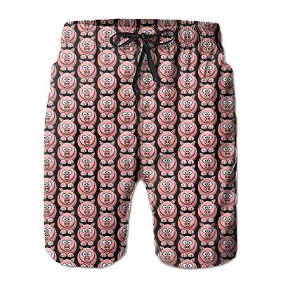 New Pink Cute Pig Men's Pocket Swim Trunks Summer Quick Dry Beach Board Shorts supplier