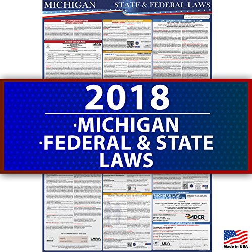 2018 Michigan State and Federal Labor Law Compliance Poster - OSHA Compliant 36'' x 24'' - UV Coated by Labor Law Posters (Image #5)
