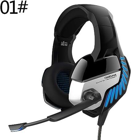 auriculares para juegos, auriculares estéreo con cable con control ...