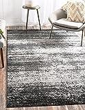 """Unique Loom Del Mar Collection Dark Gray 8 x 11 Area Rug (8' x 11' 4"""")"""