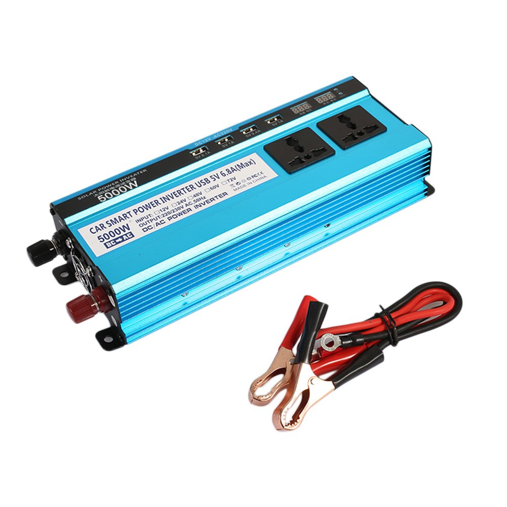 Sedeta 5000W car power inverter charger High Frequency LED Display Outlet jump starter 12V/220V for camping