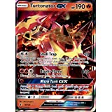 Pokemon, Sun & Moon Guardian rising, Turtonator GX 18/145, Ultra Rare, Mint, New, Full Art
