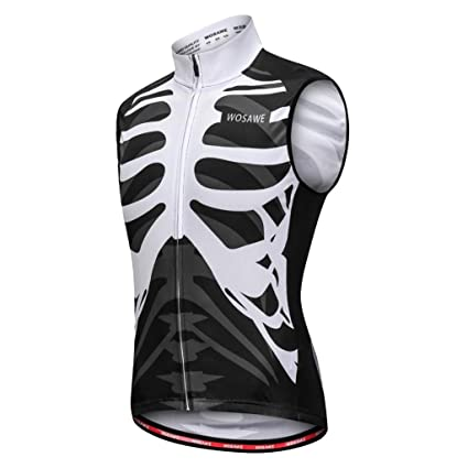 3940db4ed Prettyia Men Women Sleeveless Vest Cycling Jersey Shirt Bicycle Bike T Shirt  Comfortable Cycling Jersey with Reflective Stripes for Safety Night ...