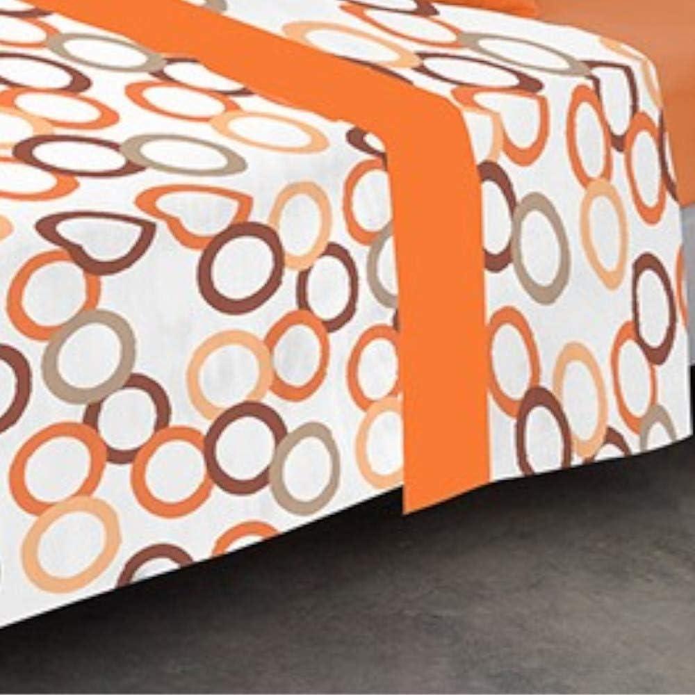 COTTON ARTean Juego de sabanas Invierno Franela 100/% Algodon Modelo CIRCULOS Caldera Cama de 150 x 190//200