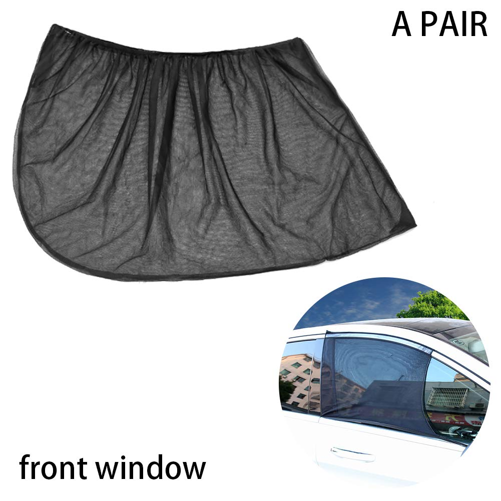 Back Window,39.37x19.6 Xiton 2PCS Universal Car Window Sun Shades Breathable Mesh Car Rear Side Blocking Mosquito Net Maximum Protects Your Baby And Family From UV Fit For Most Of Cars