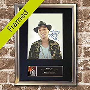 PHARRELL WILLIAMS Signed Signed SILVER FRAMED Photo REPRODUCTION PRINT A4 21 x 30cm