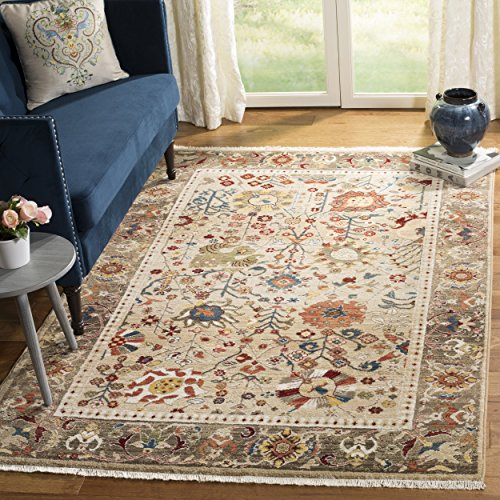 Safavieh Kashan Collection KSN303K Traditional Beige and Taupe Area Rug (5'1