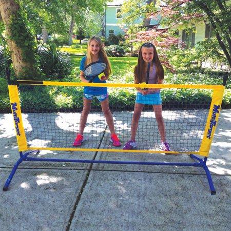 Oncourt Offcourt Driveway Tennis Package - Includes One 6' Net / 2 Whistler Racquets / 6 Foam Tennis Balls