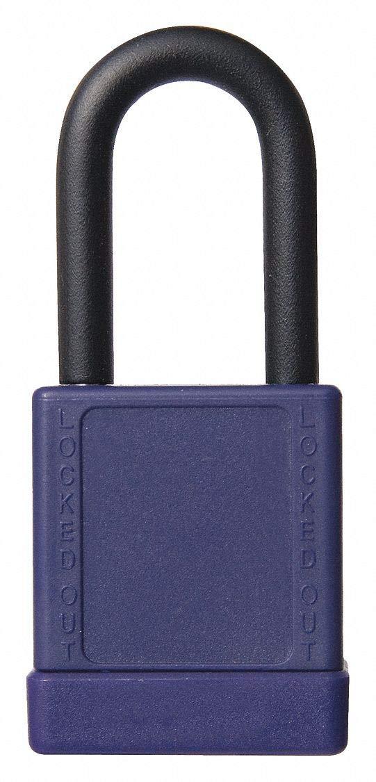 Purple Lockout Padlock, Different Key Type, Aluminum Body Material, 6 PK