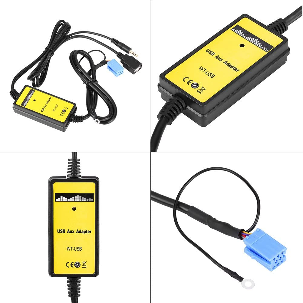 Adattatore Aux-In USB Auto Car Adattatore Interfaccia Audio per Auto Radio Lettore MP3
