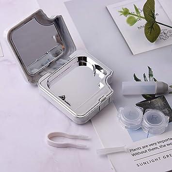 Estuches para lentes de contacto Estilo nórdico Estuche para lentes de contacto cosméticas Caja de lentes de miopía simples Caja de lentes de contacto de mármol Balight: Amazon.es: Salud y cuidado personal