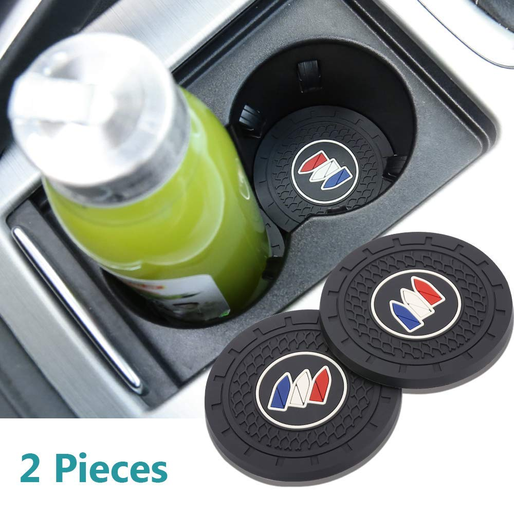 Auto sport 2.75 Inch Diameter Oval Tough Car Logo Vehicle Travel Auto Cup Holder Insert Coaster Can 2 Pcs Pack Subaru