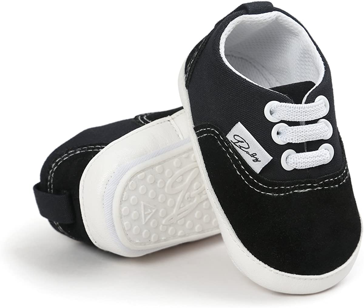   RVROVIC Baby Boys Girls Shoes Canvas Toddler Sneakers Anti-Slip Infant First Walkers 0-18 Months   Sneakers