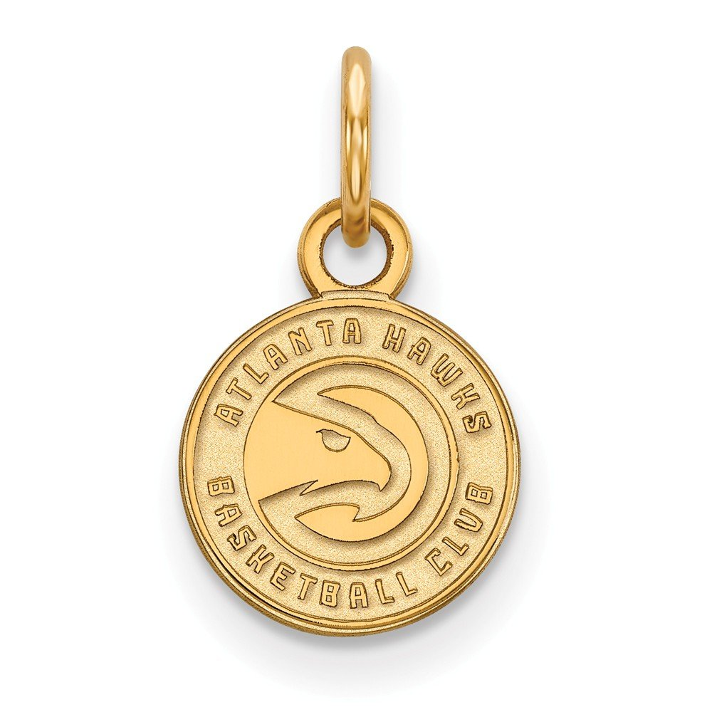Roy Rose Jewelry 14K Yellow Gold NBA LogoArt Atlanta Hawks X-small Pendant / Charm