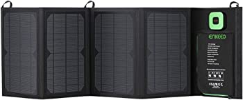 ENKEEO 28W Foldable Solar Charger Panel with USB Cable