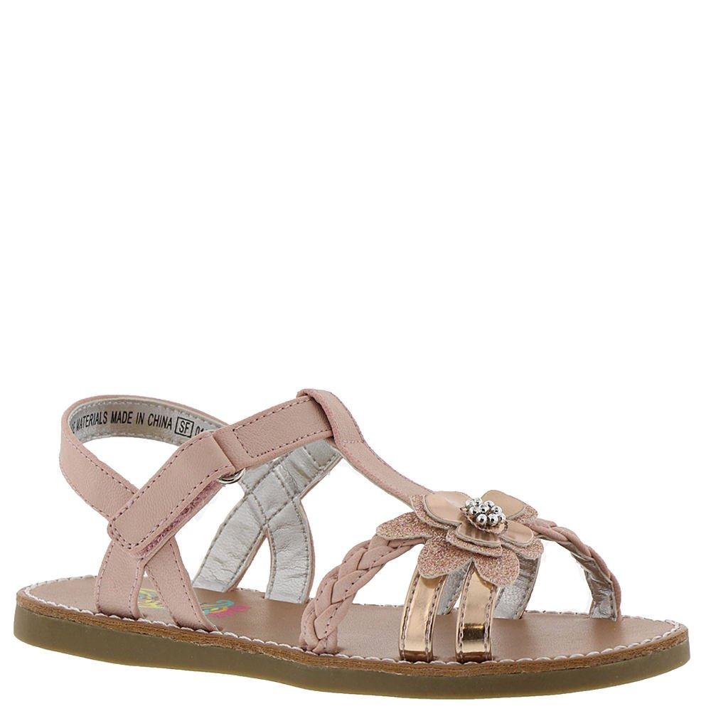 Rachel Shoes Krissy Girls' Toddler Sandal 6 M US Toddler Peach-Metallic